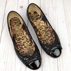 Sam Edelman Black Calypso Quilted Flats Size 8.5